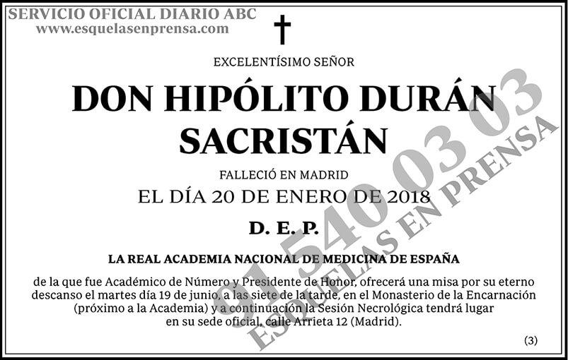 Hipólito Durán Sacristán